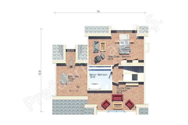 Çatı Katı Plan