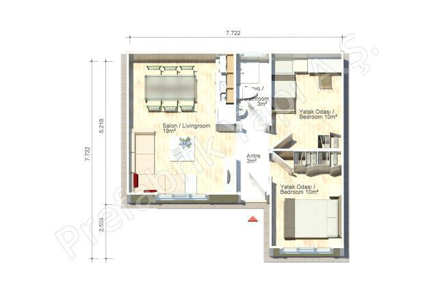 Avanos 47 m2 Plan