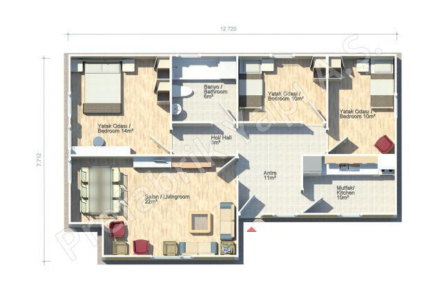 Ayder 88 m2 Plan