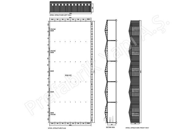 Çelik Yapı 1000 m2