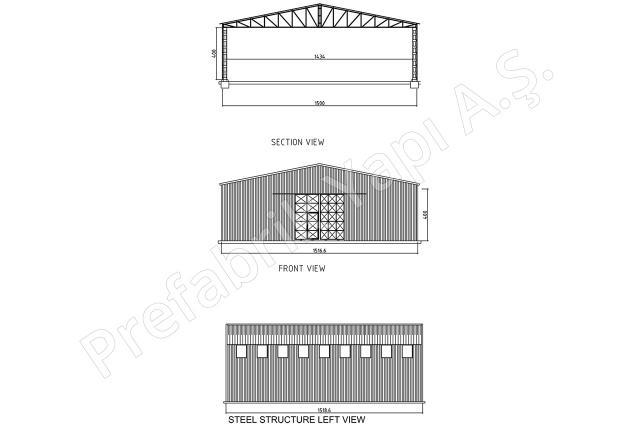 Çelik Yapı 225 m2 Plan