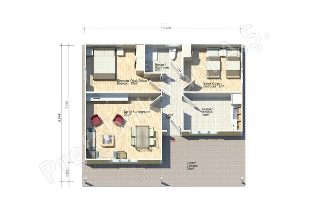 Didim 92 m2 Plan