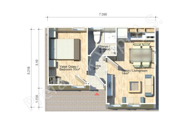 Efes 37 m2 Plan
