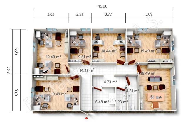 PRO 136 m2 Plan
