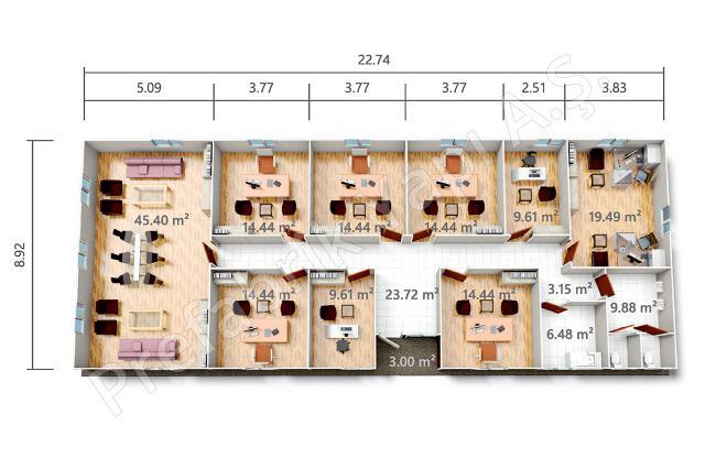 PRO 203 m2 Plan