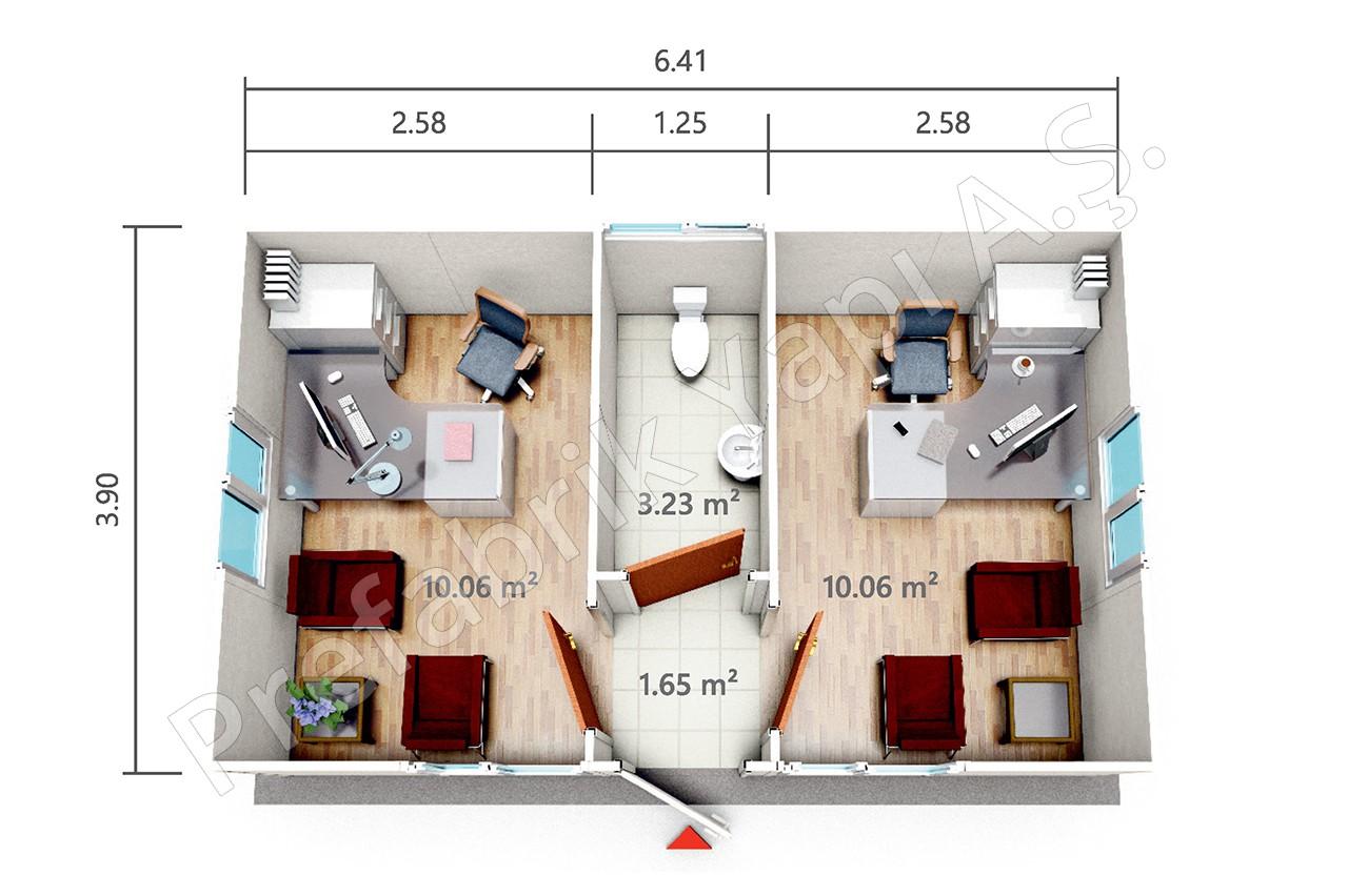 pro 25 m2. Black Bedroom Furniture Sets. Home Design Ideas