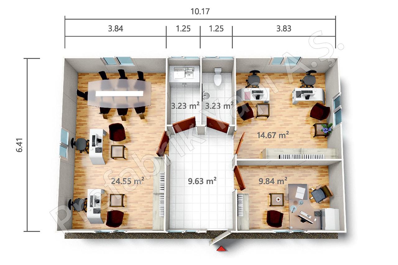 pro 65 m2. Black Bedroom Furniture Sets. Home Design Ideas