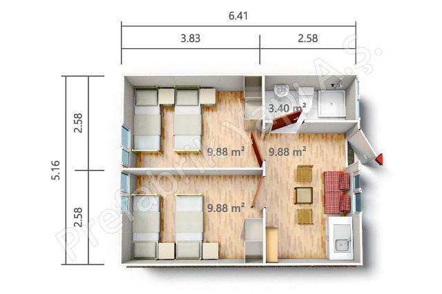 PRST 33 m2 Plan