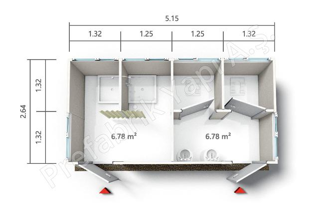 PRWD 14 m2 Plan