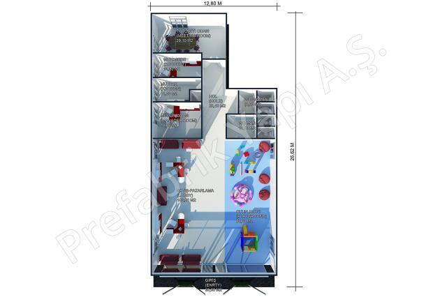 Satış Ofisi 302 m2 Plan