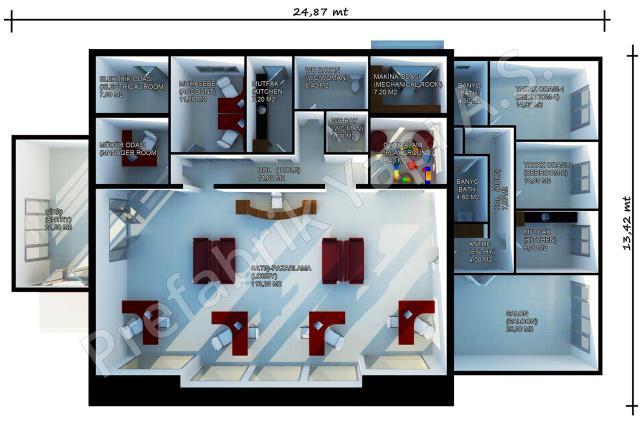 Satış Ofisi 318 m2 Plan