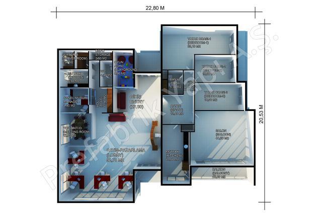 Satış Ofisi 378 m2 Plan