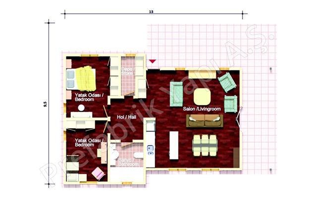 Tek Katlı Villa Plan