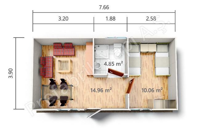 YPE 1 30 m2 Plan