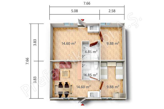 YPE 2 59 m2 Plan