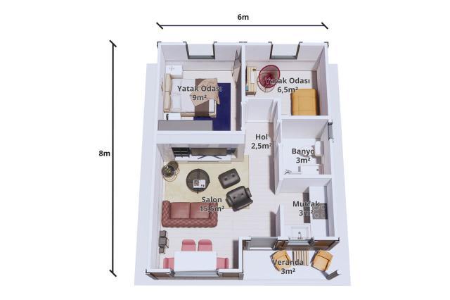 Paket Ev 48 m2
